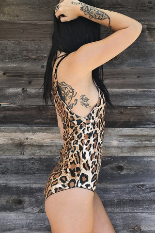 PRE-ORDER Lust For Life Leopard Velvet Simple & Sexy Once Piece