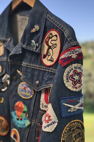 1970s Traveler's Original Patched Denim Jacket
