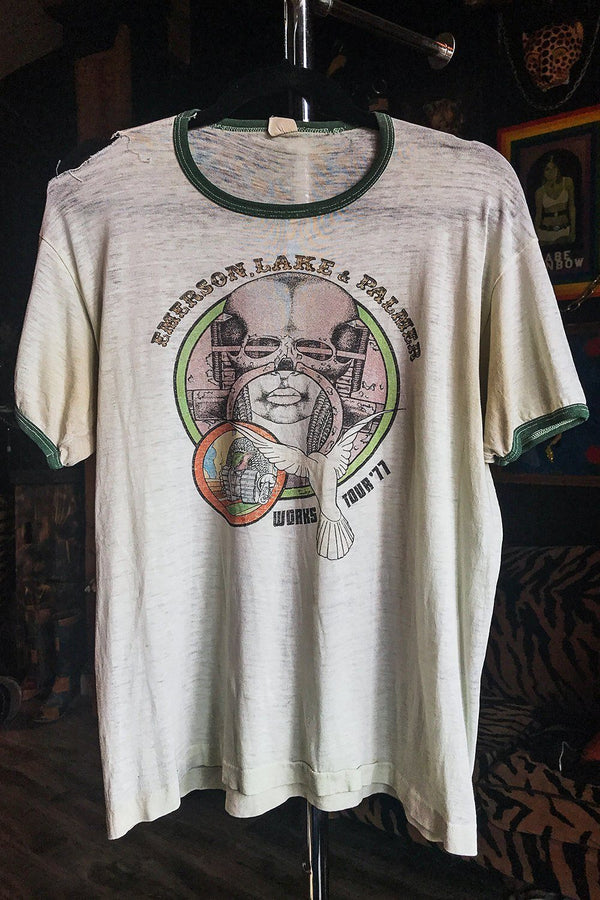 1977 Emerson, Lake, & Palmer Tissue Thin (Sheer) 50/50 Tee