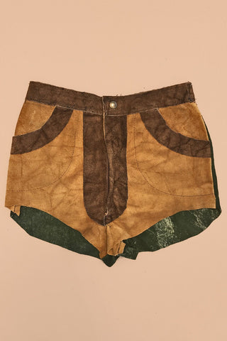 1970s Handmade Suede Hot Shorts