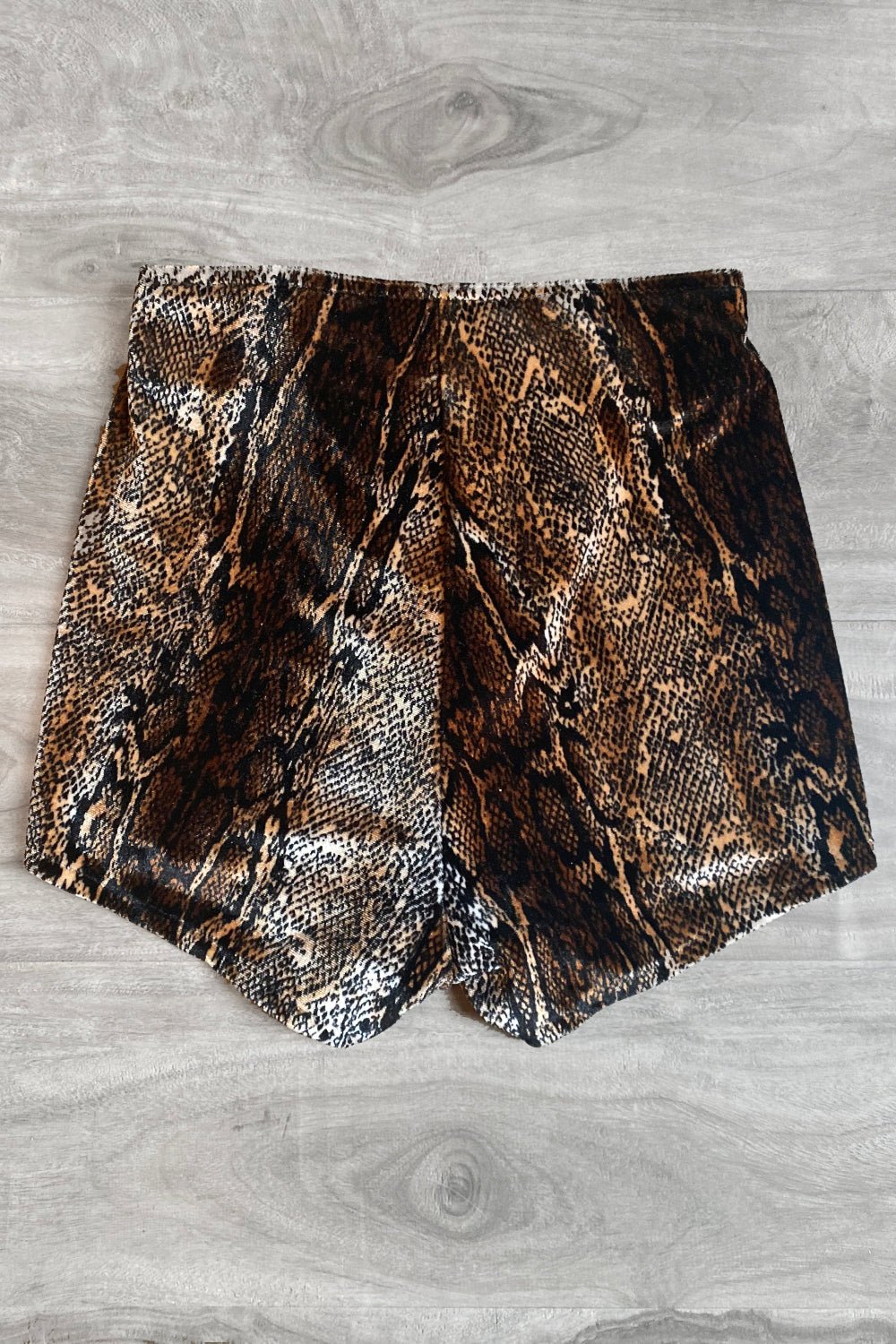 Velvet Grommet Shorts・Brown Cobra