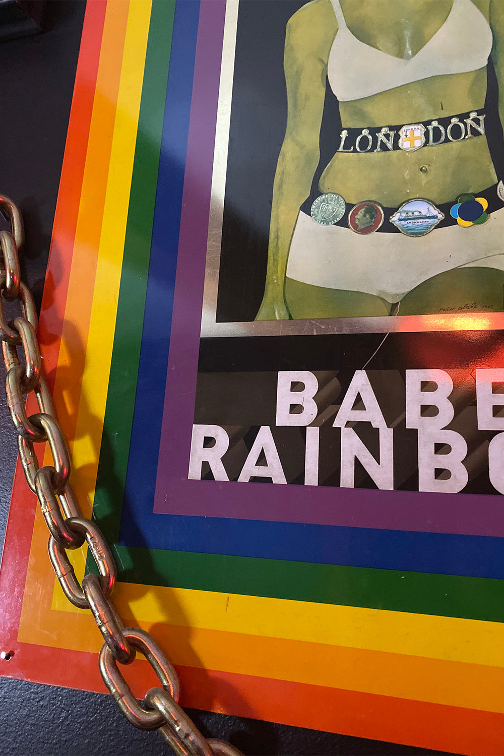 Authentic 1968 Babe Rainbow Tin Print by Peter Blake
