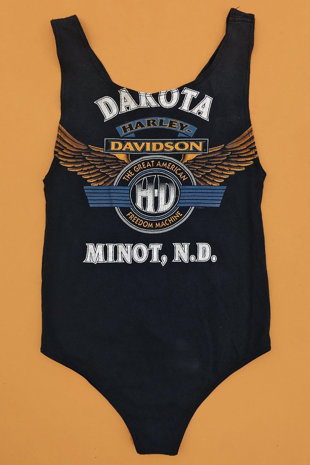 Vintage Renewed Harley Flaming Eagle Bodysuit