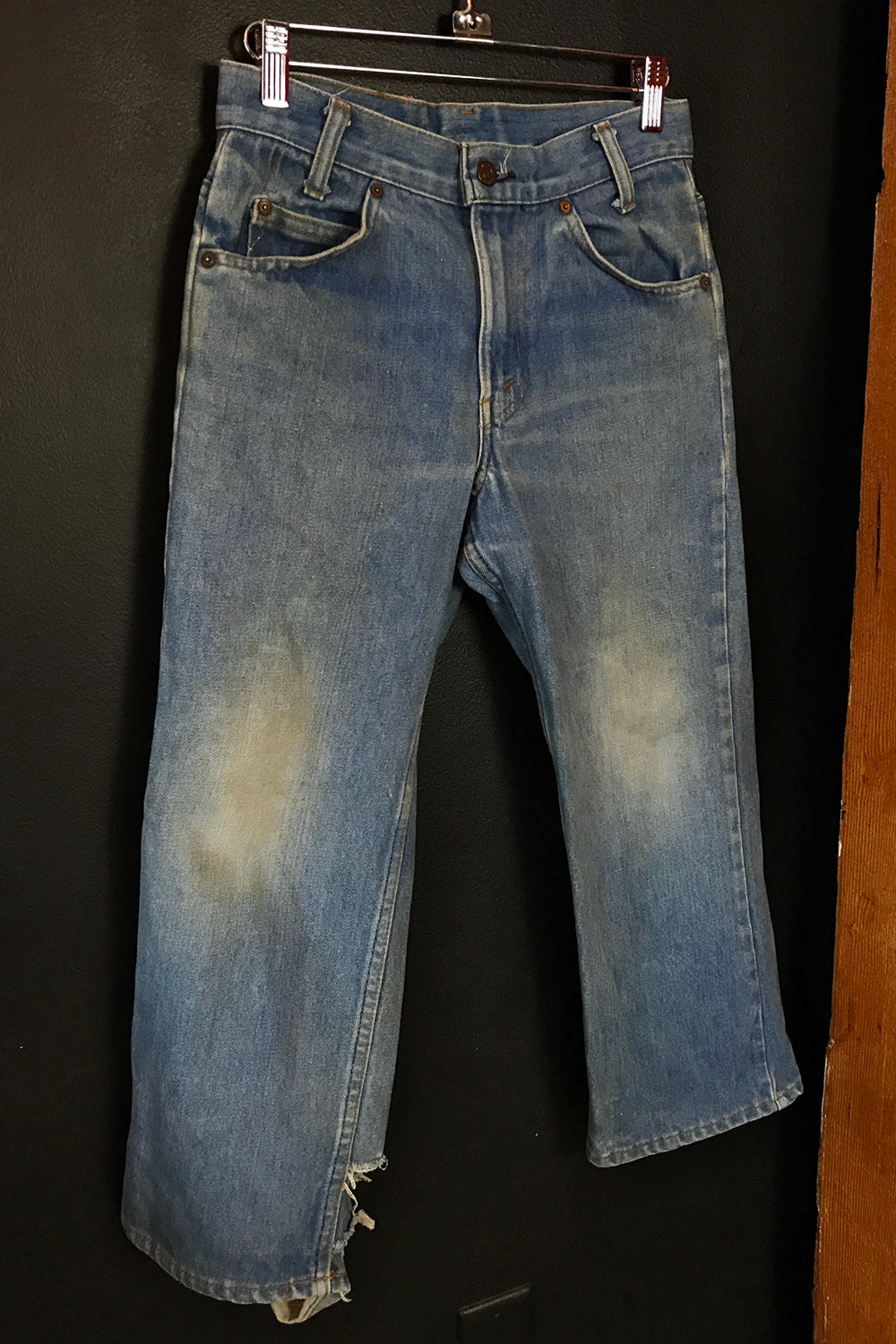Vintage Levi's Worn and Faded Orange Tab Cropped Jeans