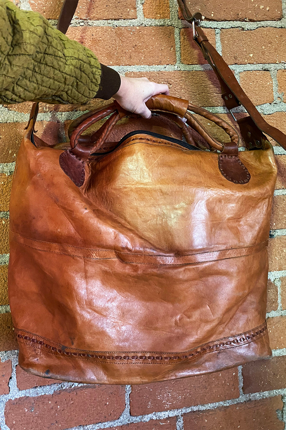 Huge Handcrafted Mexican Leather Travel Bag, Accessories, BACKBITE, BACKBITE