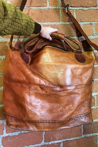 Metal & Old Leather Vintage Handcrafted Bag