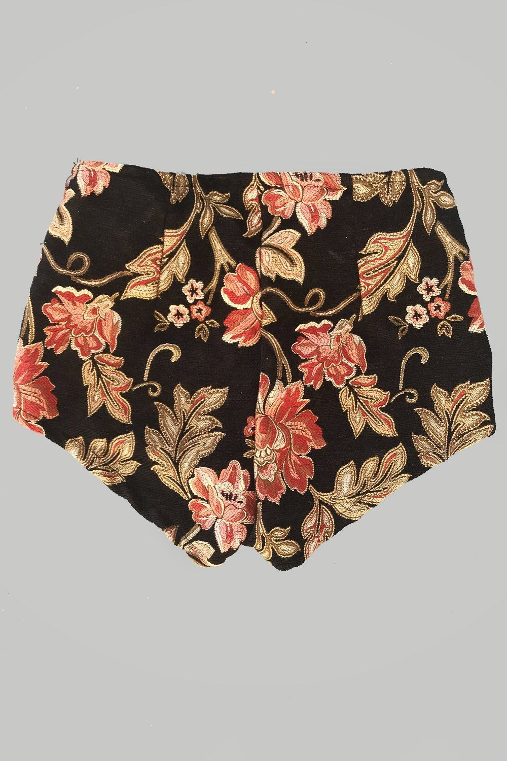 PRE-ORDER Floral Nights Zip Front Tapestry Shorts
