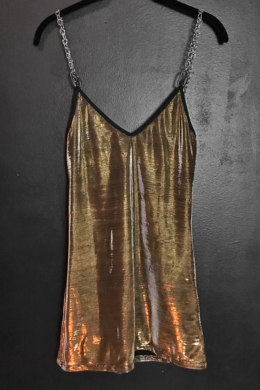 PRE-ORDER The Heavy Metal Chain Dress・Metallic Silver Gold