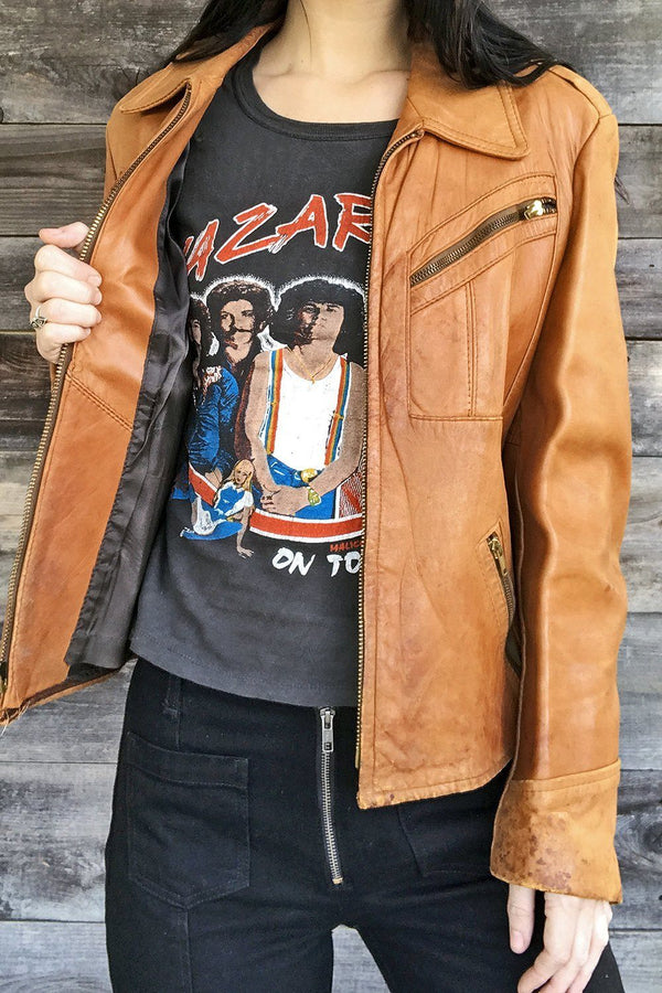King Of The Road Buttery Brown Leather Jacket
