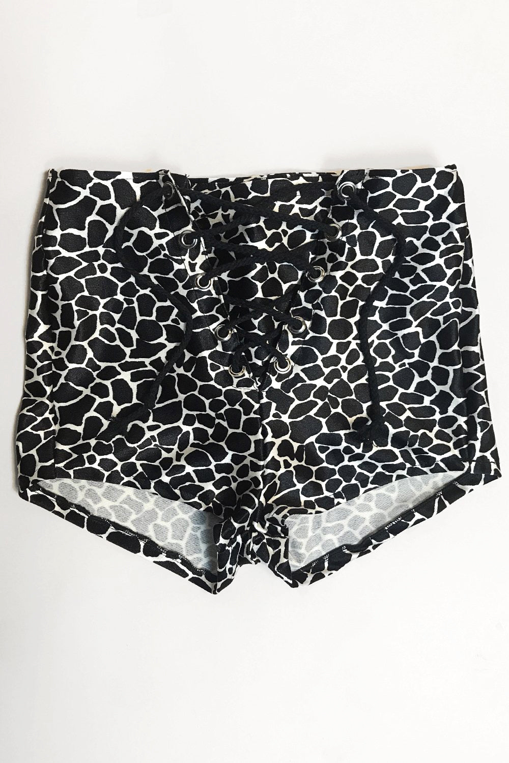 -In Stock Now- Wild Animal Nylon Grommet Shorts・Size XS, bottoms, BAD VIBES, BACKBITE