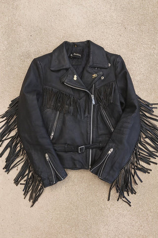 Black Magic Super Fitted And Soft Harley Davidson Fringe Leather Jacket