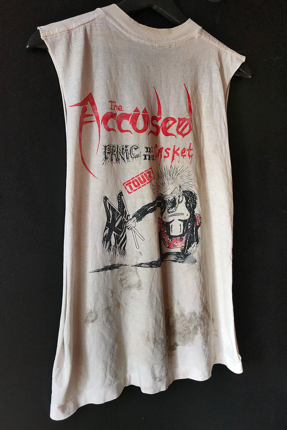 RARE 1987 The Accused Panic In The Casket Tour Tee