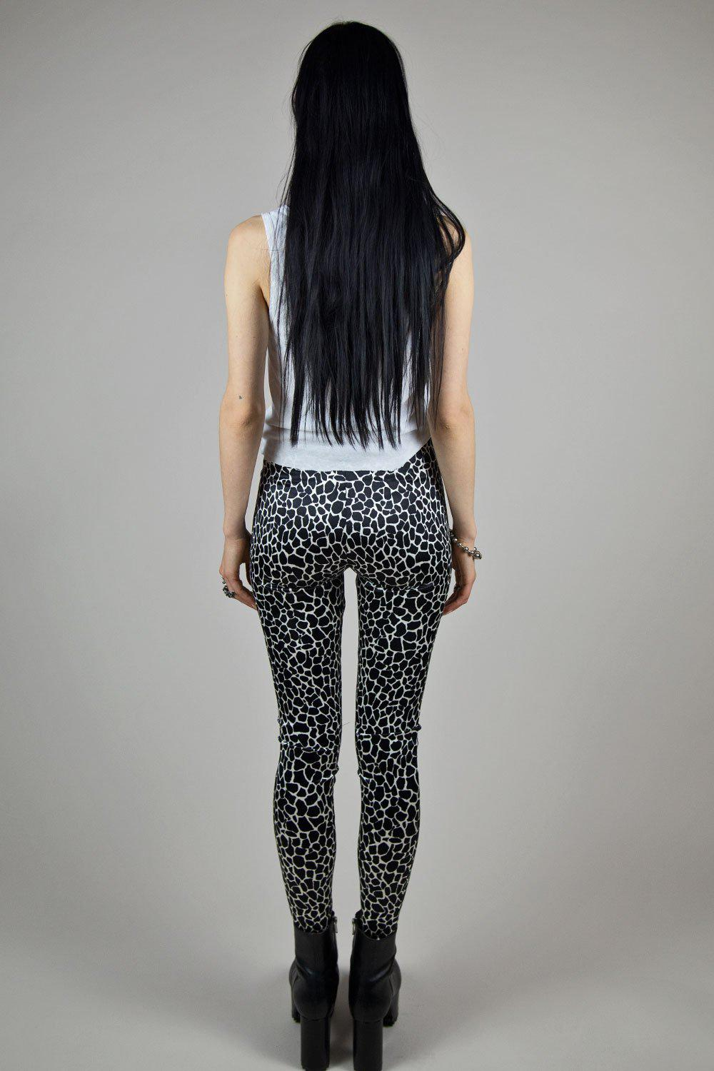 Wild Animal Spotted Nylon Spandex Grommet Pants