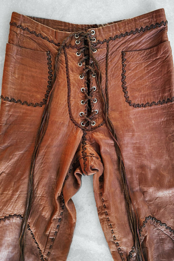 '60s North Beach Leather Pants | Handmade in Mexico