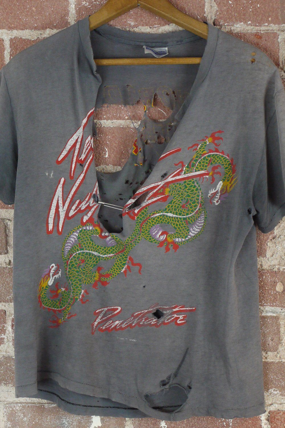1984 Ted Nugent Thrashed World Penetration Dragon Tour Shirt