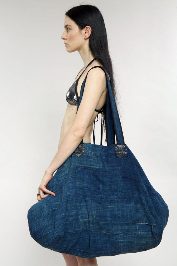 The Big Bag in African Indigo Cotton (One of a Kind)