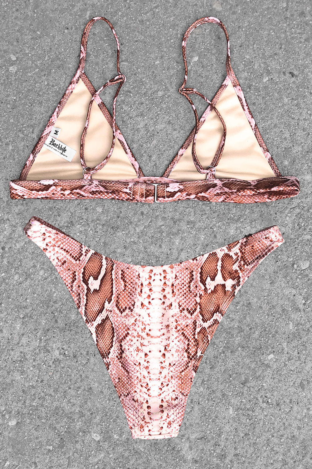 Smoke Show Bikini in Bronze Cobra
