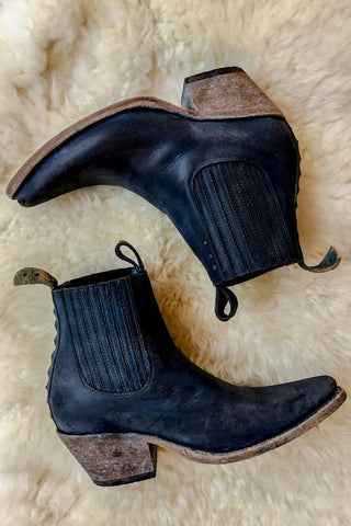 Freeway Chelsea Boot 1001 in Black/Blue Playa by PSKaufman