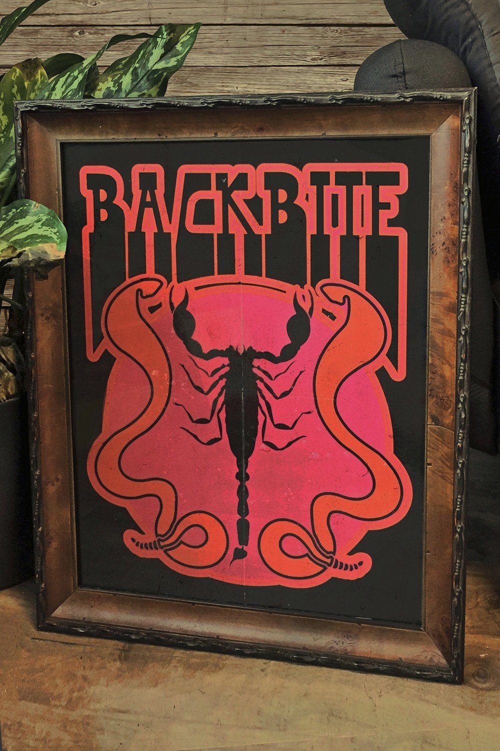 Backbite Scorpion and Snakes Original 16x20 Matte Poster, Home Adornment, HARLEY & J