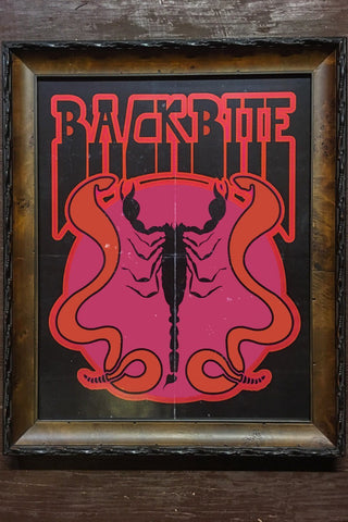 Backbite Scorpion and Snakes (Original Artwork by Harley and J) 16x20 Matte Poster