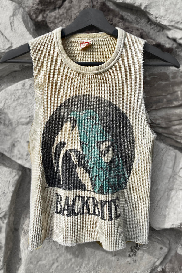 Backbite Snake Print on Worn Vintage Thermal | In Stock