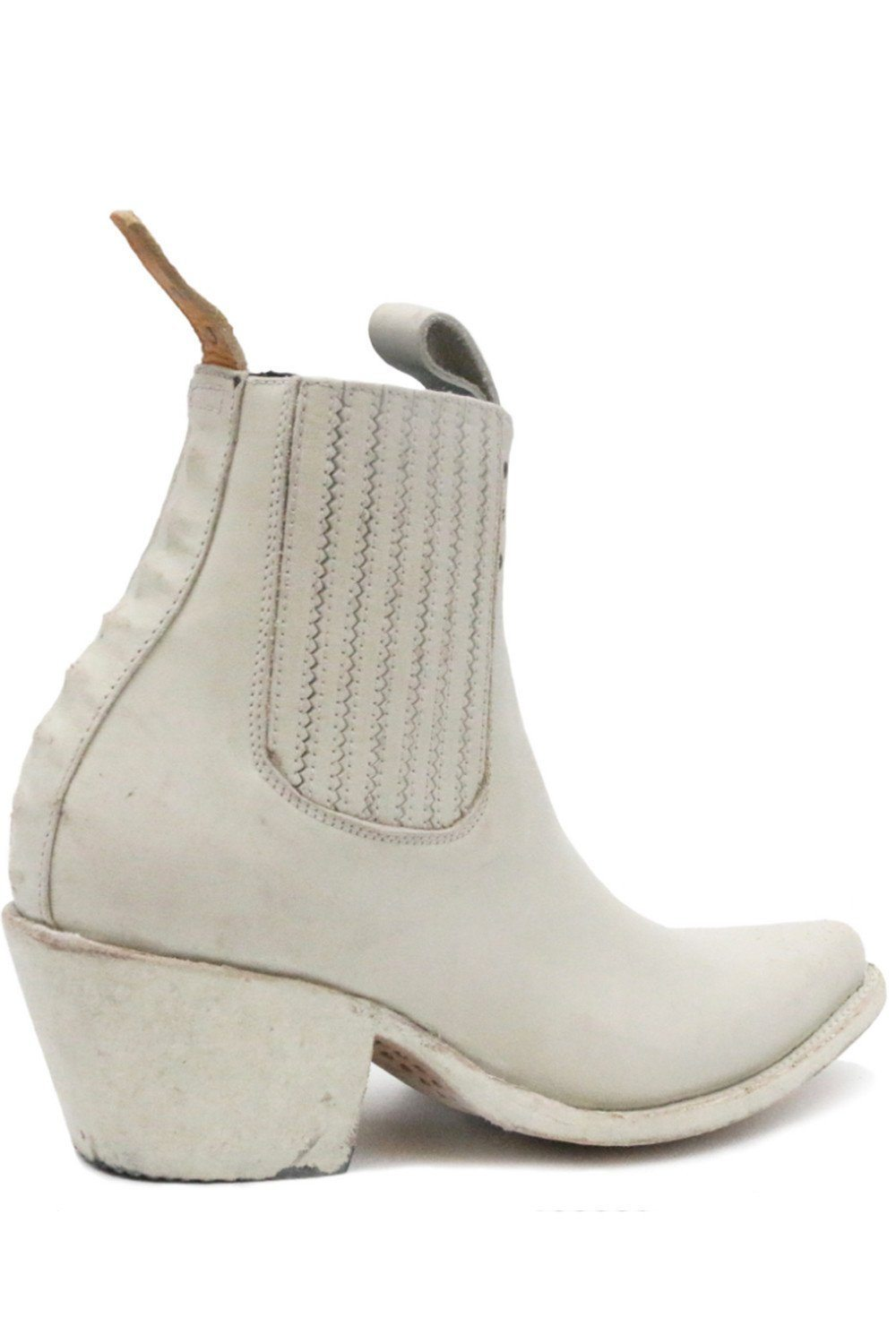 PSKaufman Leather Chelsea Boots in Bone White, shoes, pskaufman, BACKBITE