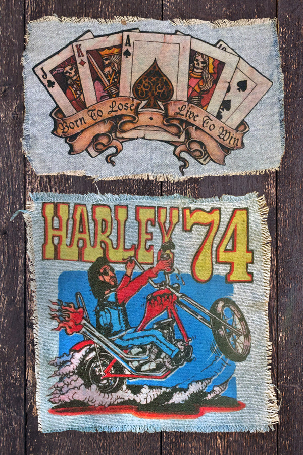 Born To Lose // Harley 74 Denim Patches, Patches/Pins, IN HOUSE, BACKBITE