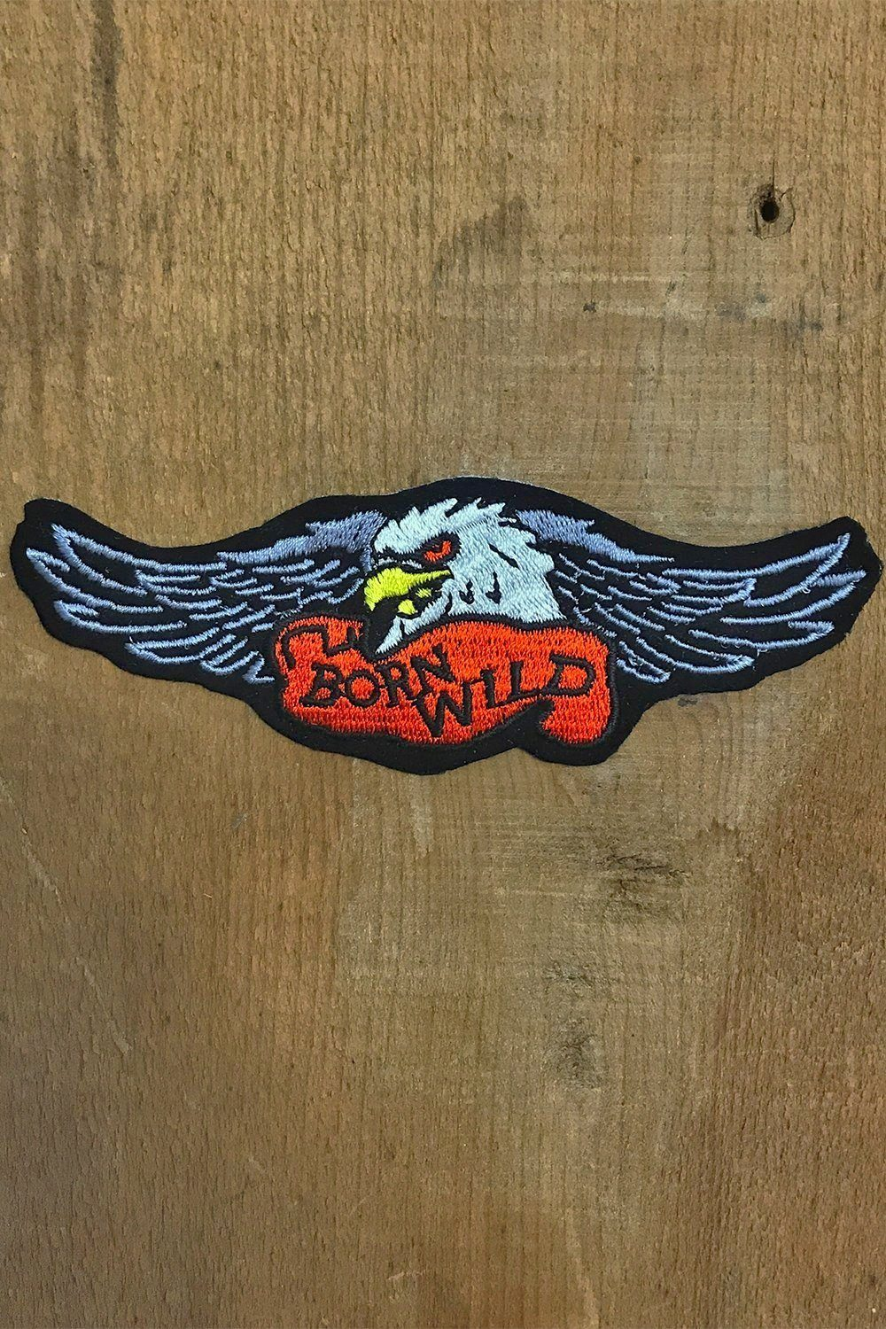 Born Wild Embroidered Biker Patch, Patches/Pins, BACKBITE, BACKBITE