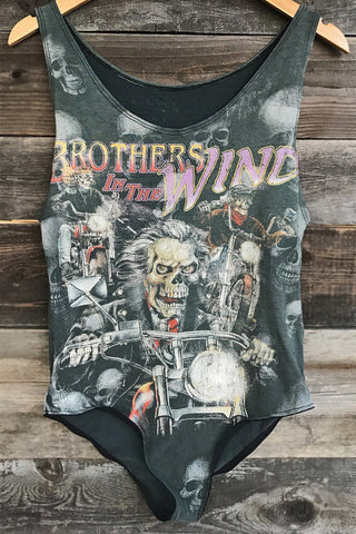 Vintage Renewed Brothers In The Wind Thin 'N Faded Bodysuit