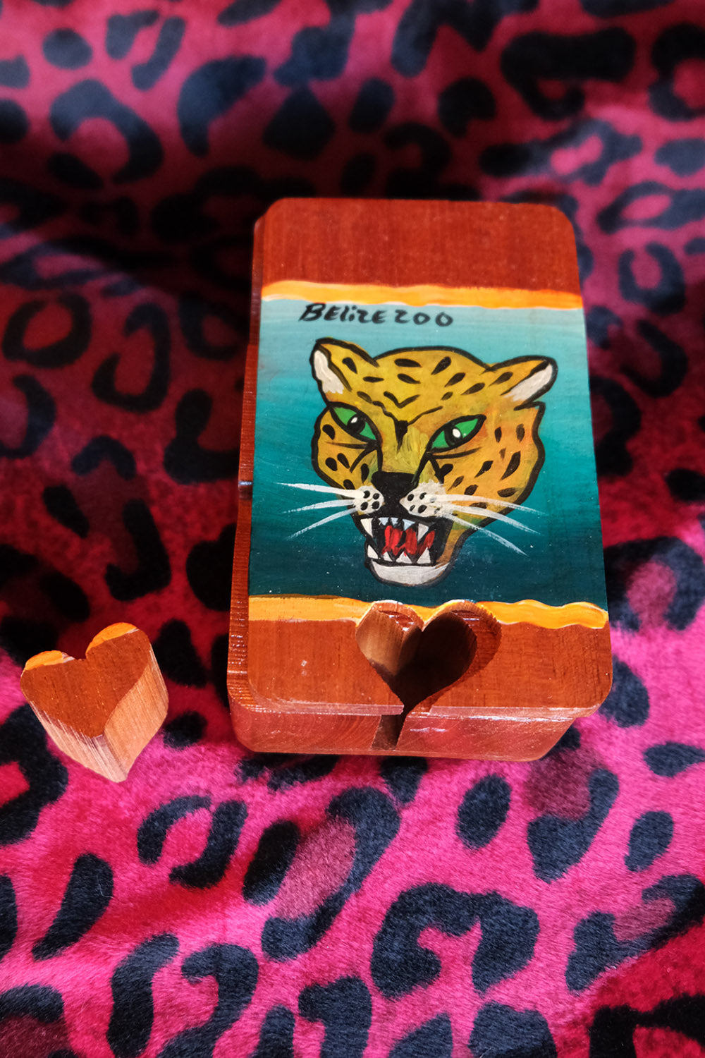 Handcrafted Wood Jaguar Puzzle Box | Belize Zoo