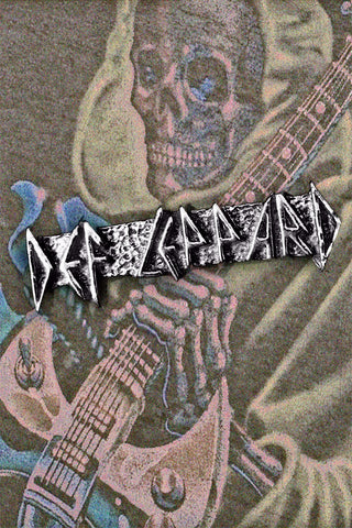 Vintage Def Leppard Pewter Lapel Pin