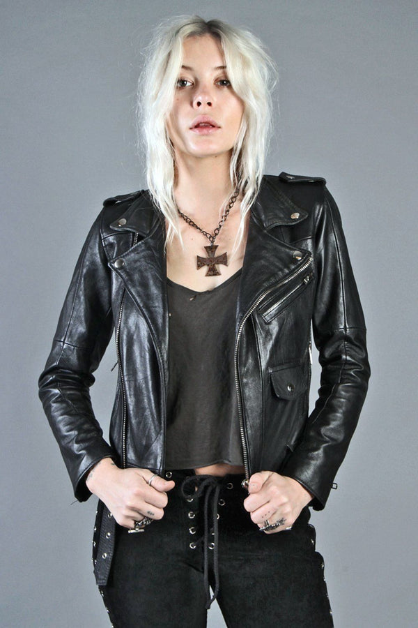 >> DEADWOOD << Recycled Leather Buttery Soft Biker Jacket