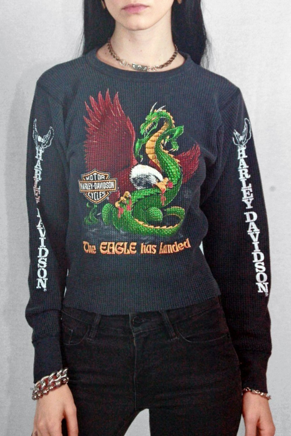 Vintage 'The Eagle Has Landed' Harley 50/50 Thermal