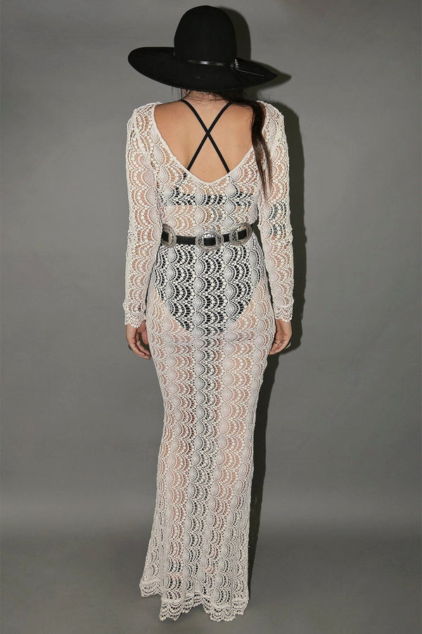 Girl From The North County Floor Length Knit Dress