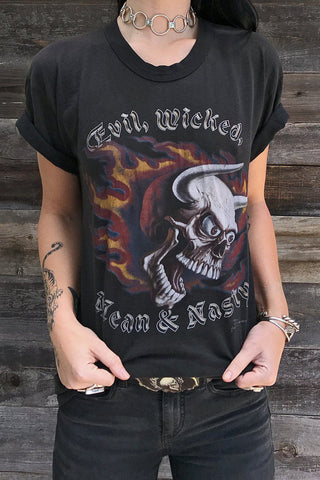 Evil Wicked Mean and Nasty Thin 'N Soft Rare 50/50 Tee