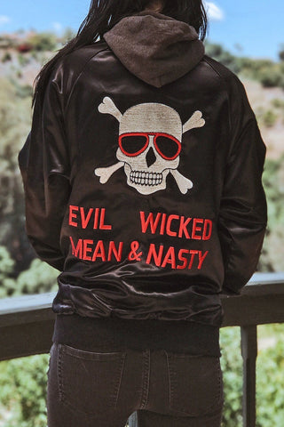 Evil, Wicked, Mean, and Nasty Insane Rare Satin Jacket