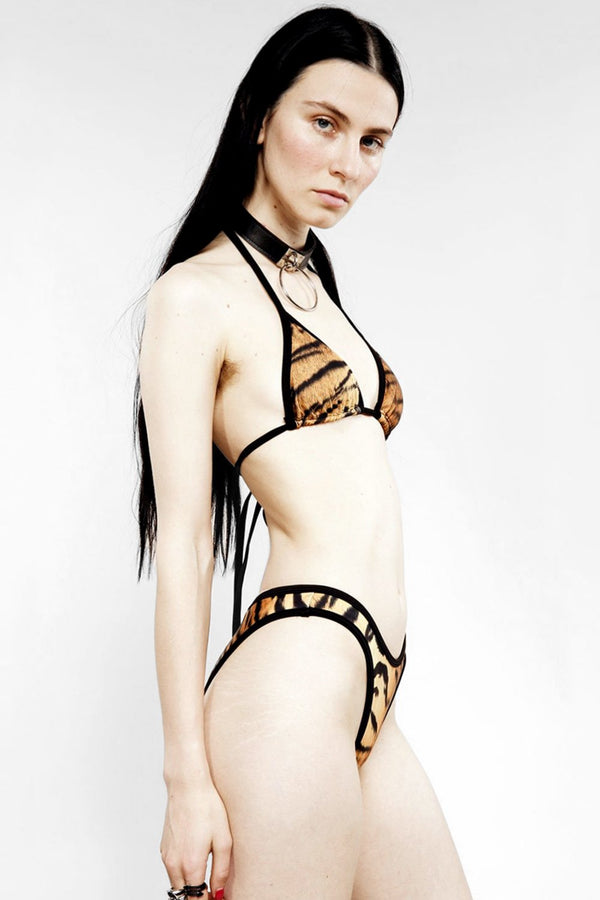 Fire Starter Bikini Top in Tiger
