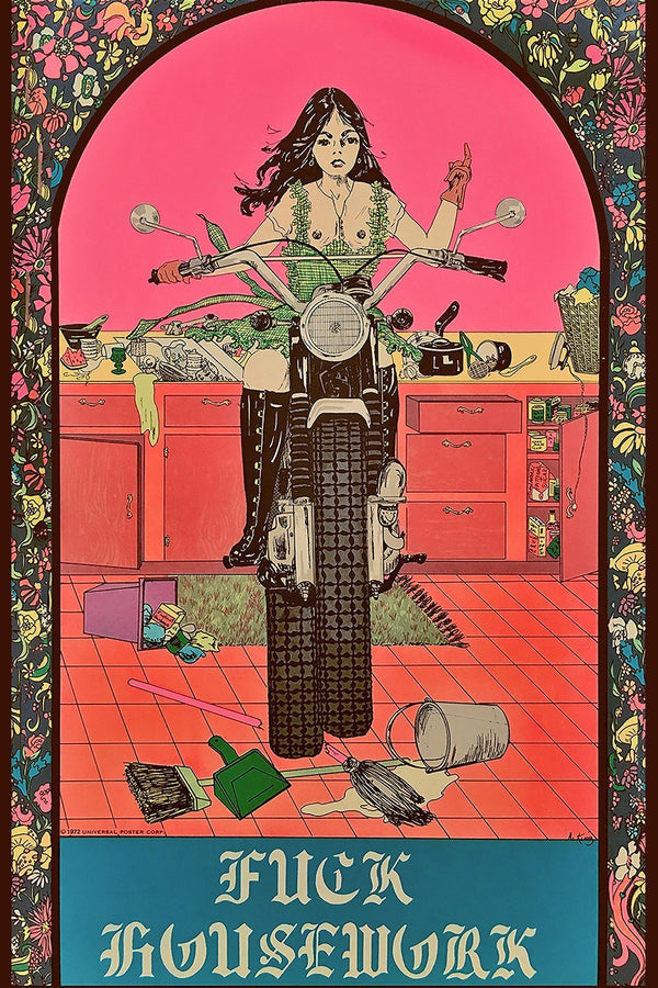 FUCK HOUSEWORK 1972 Women's Liberation 11x17 Print, Home Adornment, BACKBITE