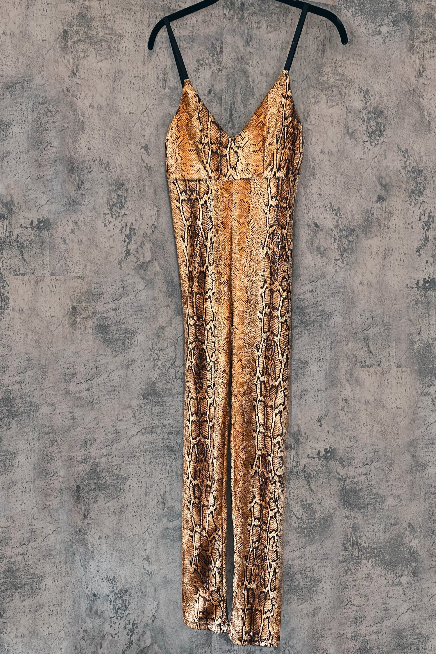 Golden Cobra Jumpsuit | Small In Stock