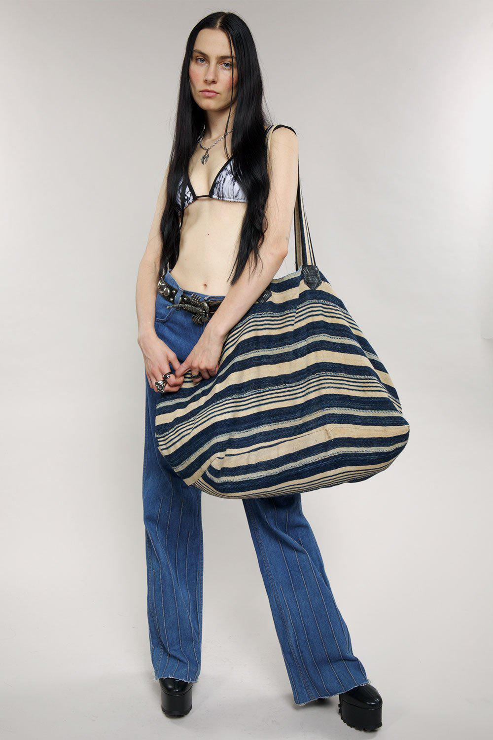 The Big Bag in African Indigo Cotton・One of a Kind