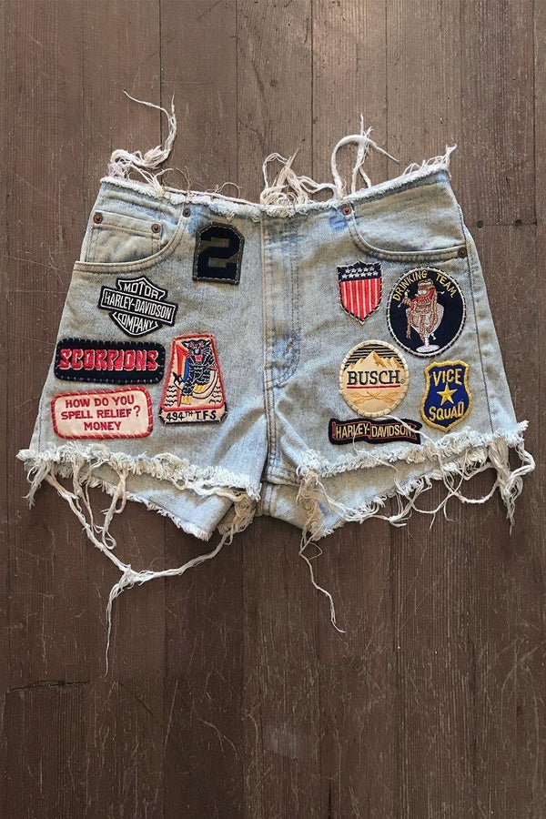 Vice Squad Drinking Team• Custom Vintage Levis Shorts