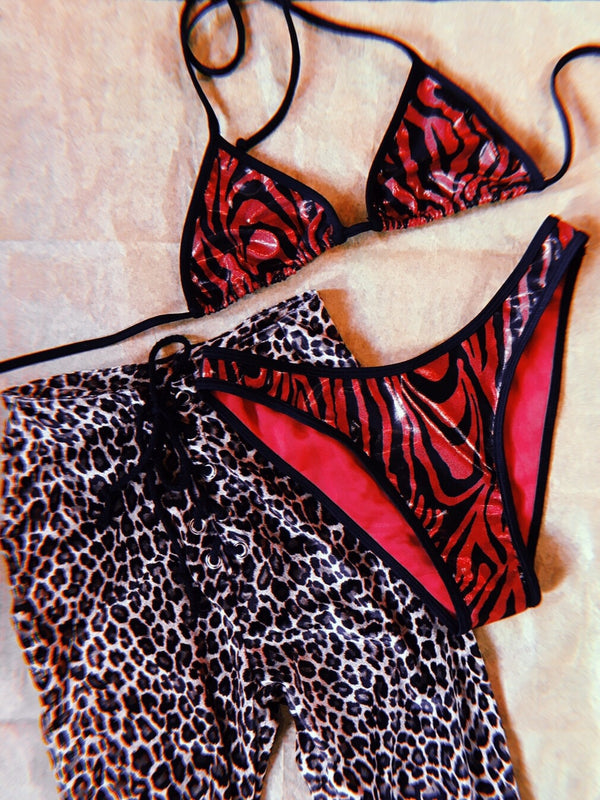 Fire Starter Bikini・Red Zebra