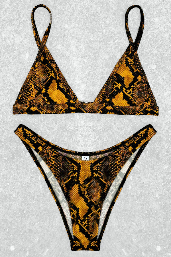 Smoke Show Gold Cobra Bikini | In Stock