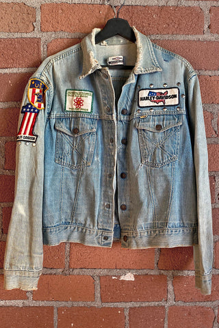 Customized Vintage Patched Army Jacket