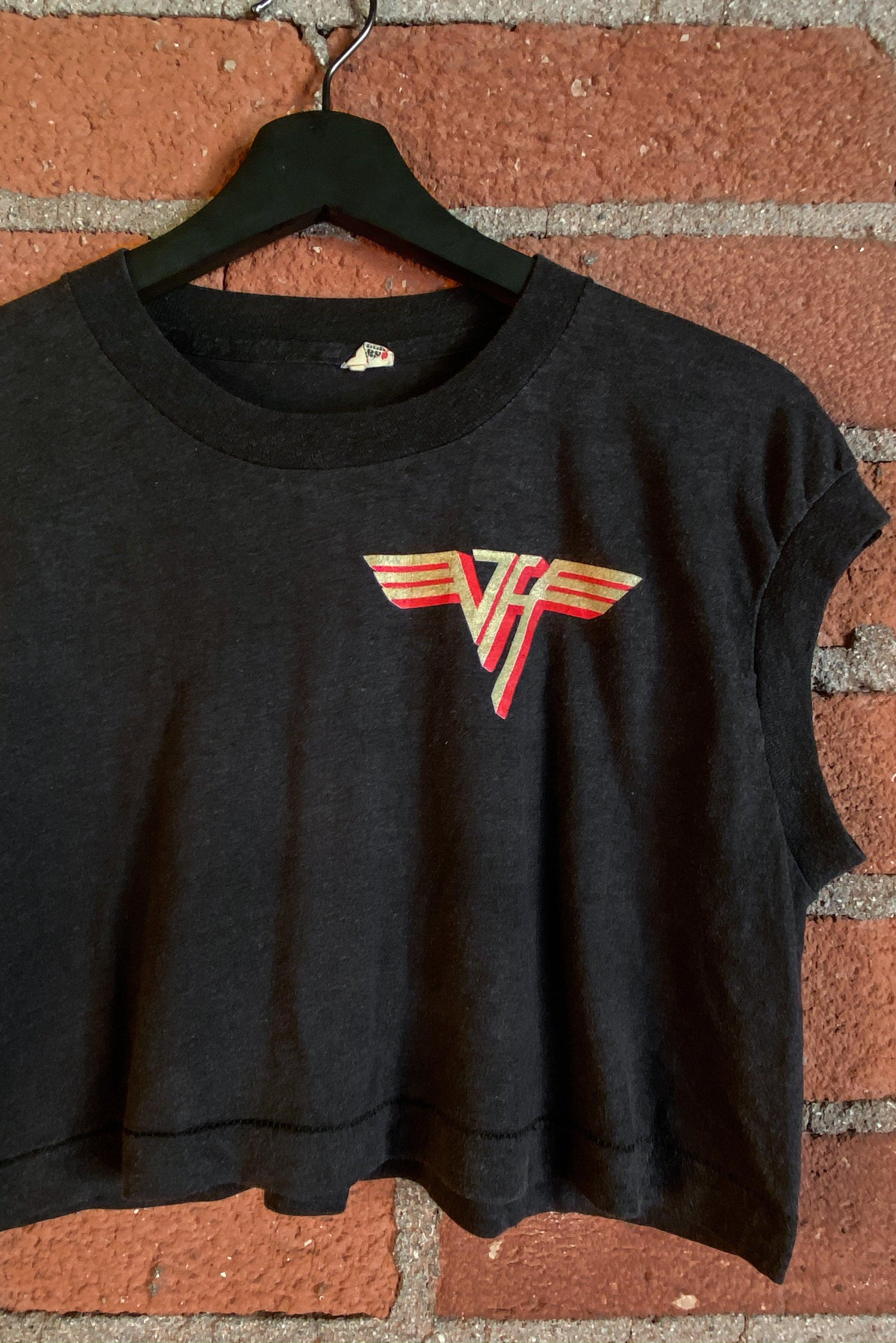 Van Halen Paper Thin 'N Soft Cropped 50/50 Tee, Tops, BACKBITE, BACKBITE