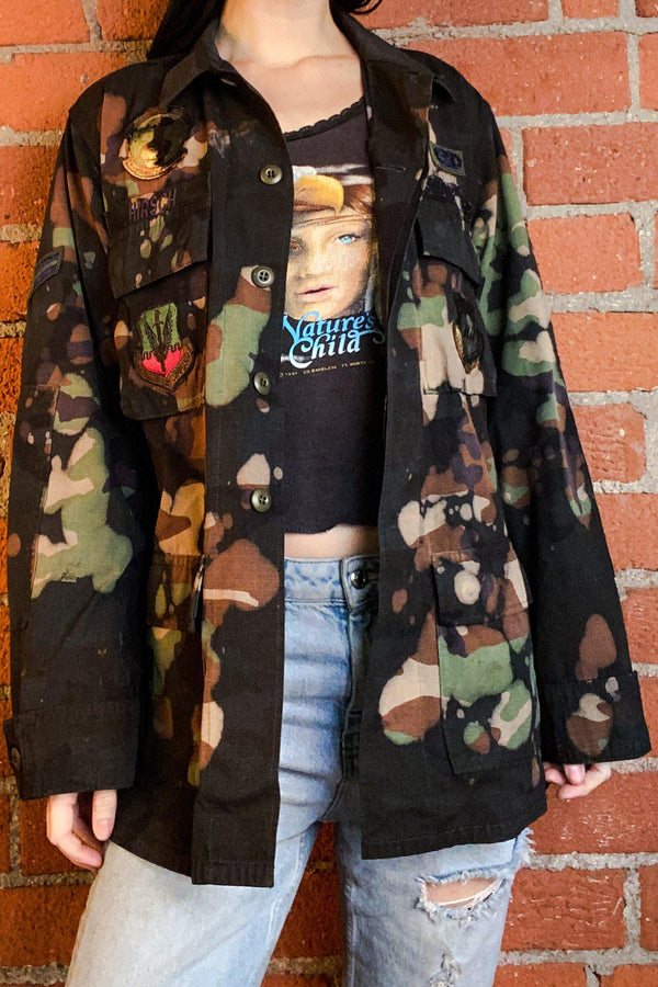 Customized Vintage Patched Army Jacket, Outerwear, BACKBITE, BACKBITE