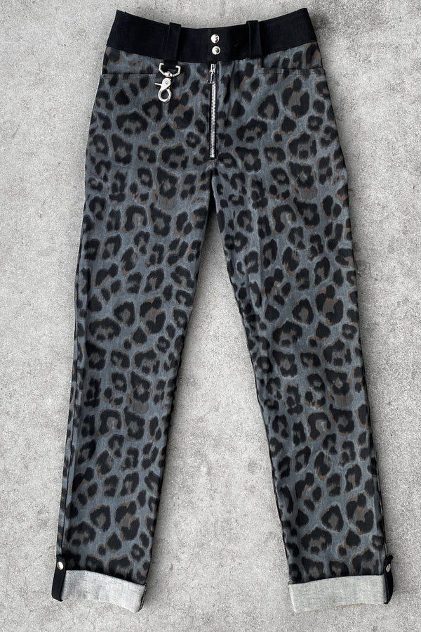 Size 24 Sample | Trainspotting Pants in Leopard