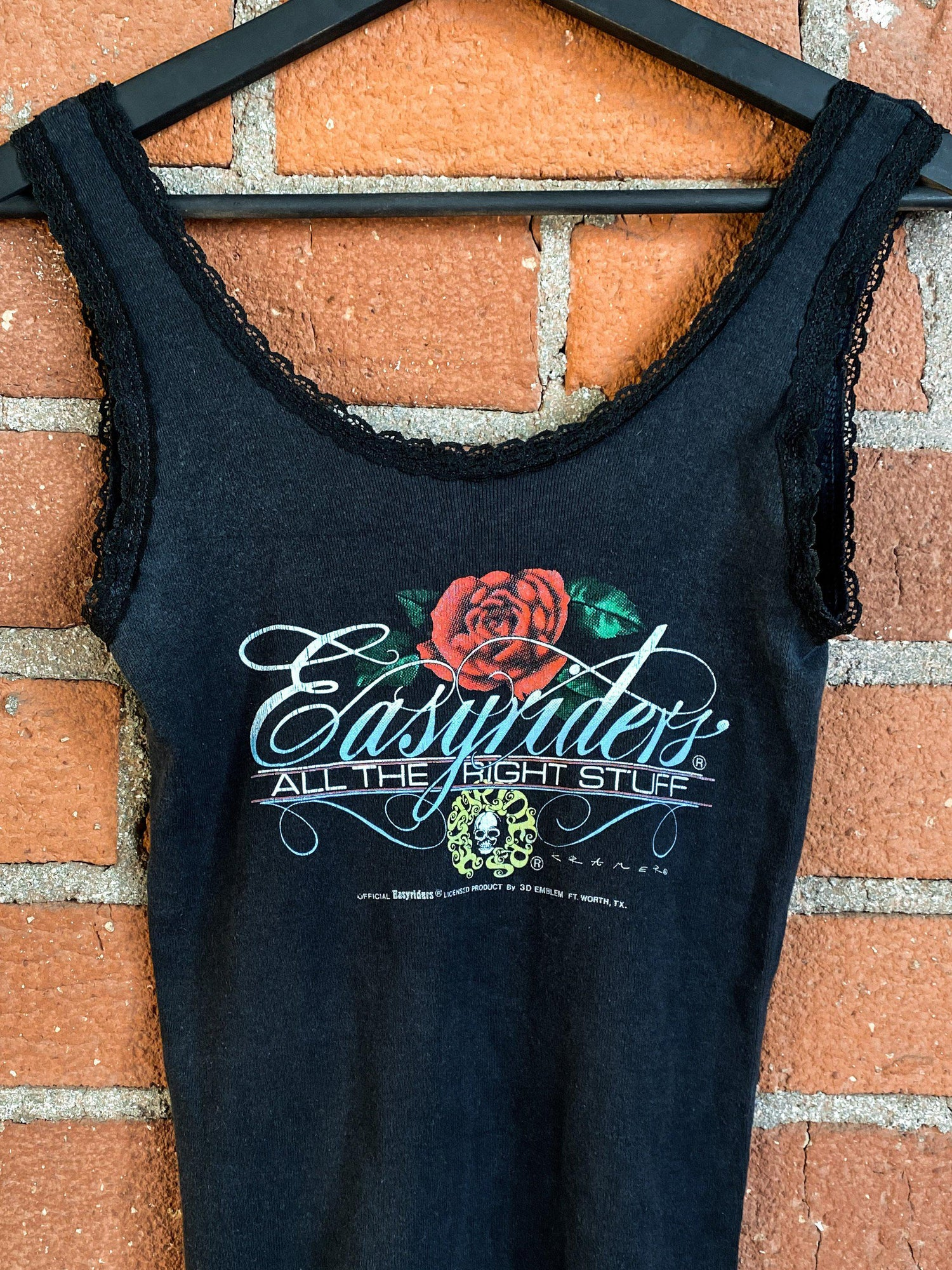 1989 Easyriders Lace Trim 50/50 Tank, Tops, BACKBITE, BACKBITE