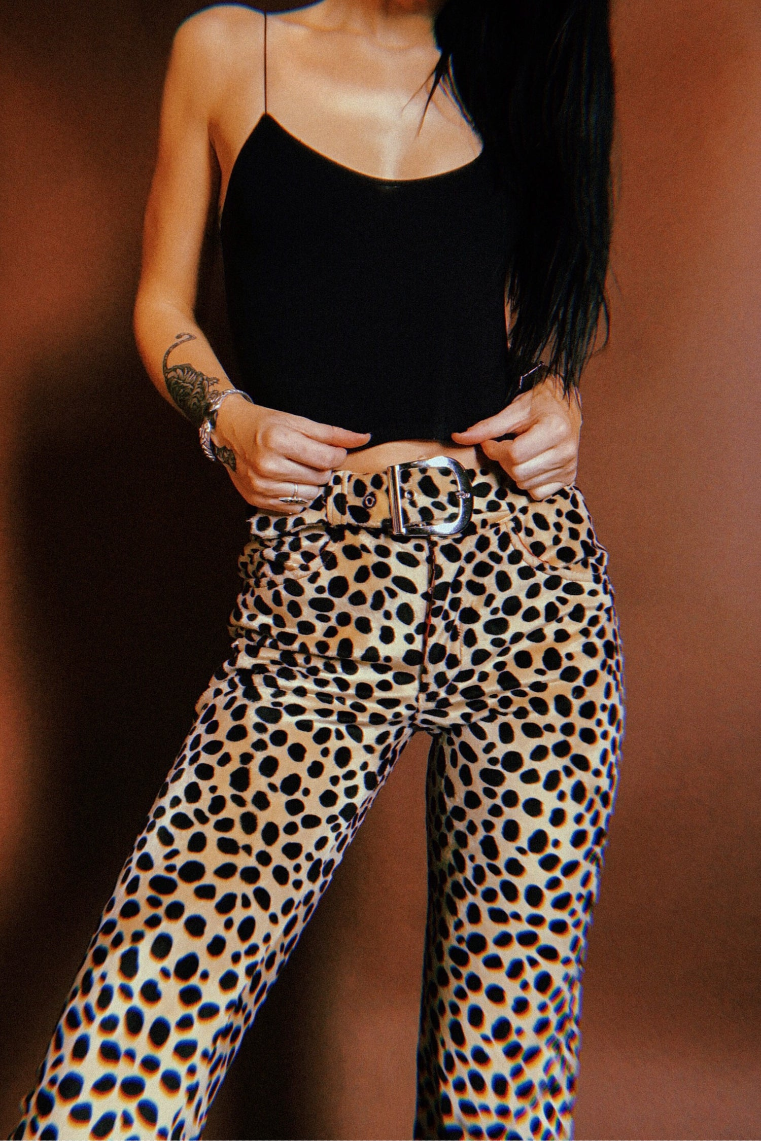 PRE-ORDER Electric 77 Cigarette Pants・Dalmatian, bottoms, BACKBITE, BACKBITE