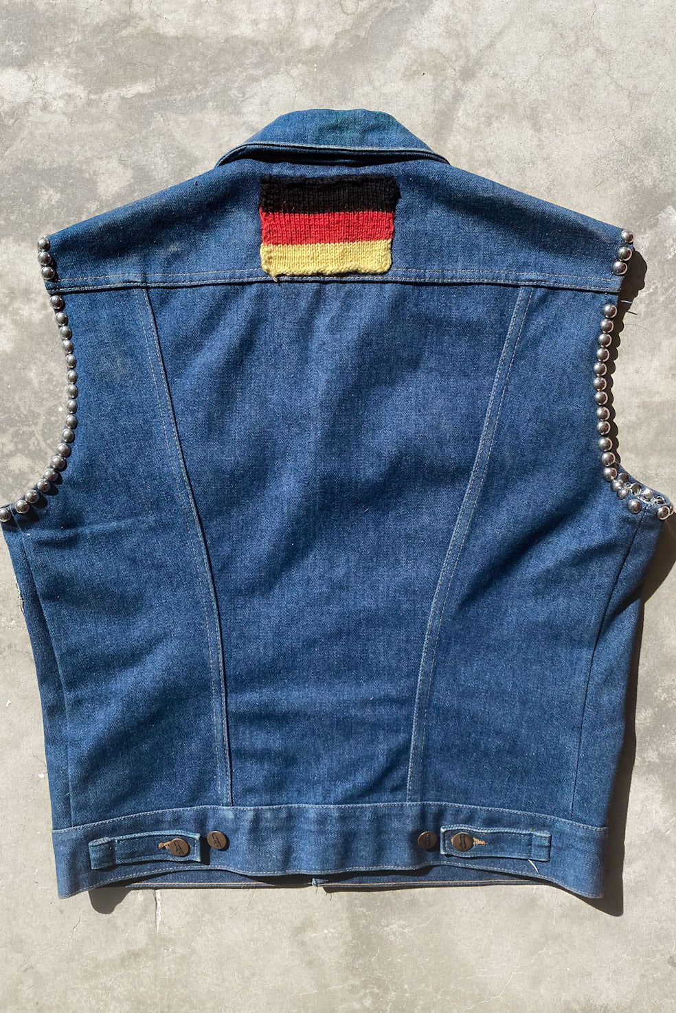 70's German Patched & Studded Vest